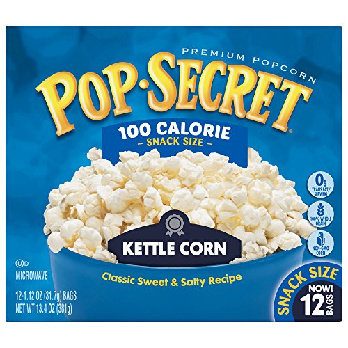 Pop Secret Popcorn, Kettle Corn, 3 Ounce Microwave Bags, 12 Count Box, 12 Ct