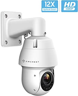 Amcrest Outdoor PTZ POE Camera, Pan/Tilt/ 12x Optical Zoom 1080P POE+ (802.3at) Home Security PTZ IP Camera, Starvis Low Light Sensor, 328ft Night Vision, IP66 Waterproof, 2-Megapixel, IP2M-853EW