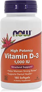 Now Vitamin D3 Structural Support 1000 IU - 180 Softgels