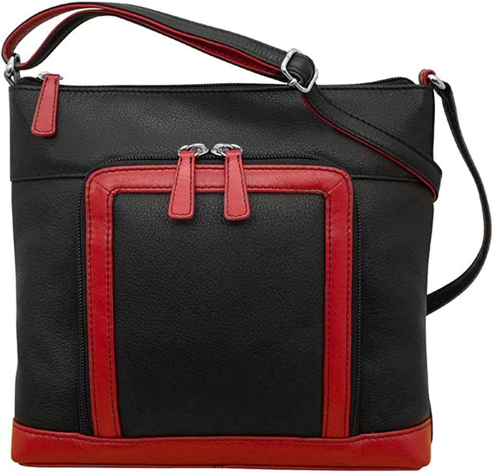 ili Max 56% OFF New York 6331 Leather Very popular Crossbody Organizer