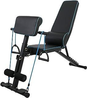JTJxop Banc De Musculation Utilitaire Réglable/Pliable pour Gym À Domicile, Haltérophilie et Musculation, avec 7 Positions...