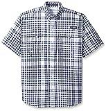 Columbia Super Bahama - Camiseta de Manga Corta para Hombre, Hombre, 1438971, Collegiate Navy Multi Check, XX-Large