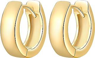 أقراط هاغي هوب من الذهب المطلي عيار 14 قيراط أقراط صغيرة هوب مجوهرات عصرية للنساء الرجال 14 مم