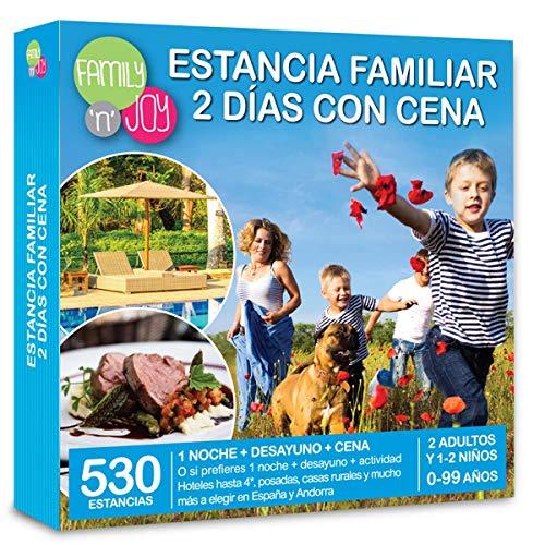 NJOY Experiences - Caja Regalo - Estancia Familiar 2 DÍAS con Cena - Más de 530 estancias Familiares con Cena a Escoger