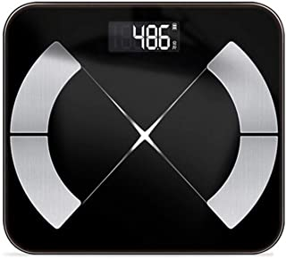 ZHS Analizador de Escala de Grasa Corporal Inteligente Calorías de Fitness Básculas de Peso del Agua Básculas de baño electrónicas Bluetooth, Báscula de Grasa Corporal USB