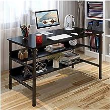 LJBH Computer Desk Desktop Folding Combination Home Table And Chair Desktop Bookshelf Bedroom Computer desk, desk, durable...