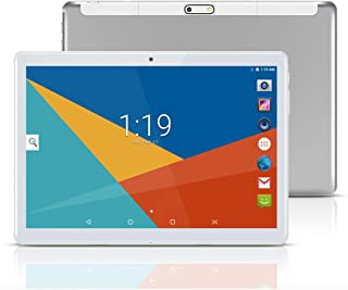 1600 Resolutions WiFi Bluetooth Dual SIM Cards 3G 4G LTE Tablets 2019 New 10.1 inch Android 8.0 Tablet PC Deca Core 4GB RAM 64GB ROM 2560 White Free Protecting Cover