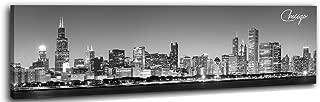 DJSYLIFE-Chicago Canvas Skyline Wall Art 13.8