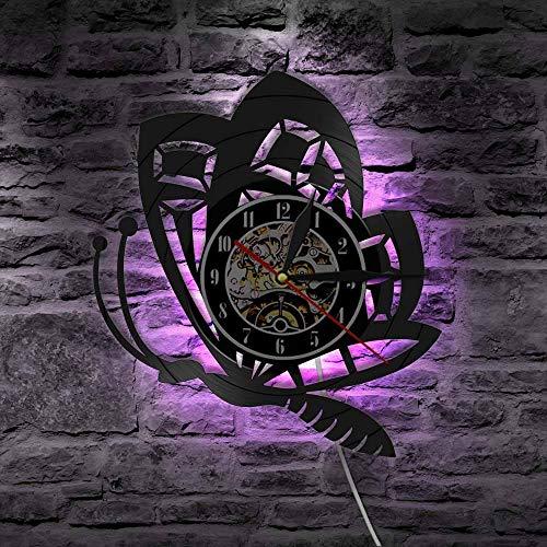 Insekt Wanduhr Schmetterling Minwood Tischlampe NachttischlampeBatterietischlampe