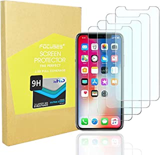 Screen Protector Japan Tempered Glass for iPhone XS/x/10/ten[Anti Blue Light]Anti-glare Screen Film Shield Cover Saver for Apple iPhone XS/X/10/ten[3D Touch][4pack]Full Coverage/Case Friendly/Focuses
