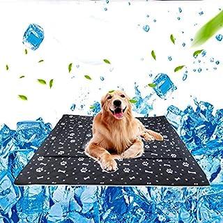 WooyMo Mascota Perro Auto enfriamiento Mat Almohadilla, Extra Grande Seda de Hielo Mascota Mat Antiadherente Perros Gatos Ice Silk Mat Manta de refrigeración Cojín para Kennel/Sofá/Cama/Suelo