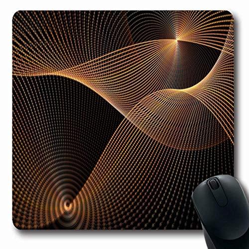 Mousepad Drehen Sie Buntes Abstraktes Orange Kupfer Gewebtes Scheibennetzwerk Auf Einzigartigem Muster Verschieben Sie Kreis Fett Fett Rutschfeste Mousepad Mausmatte 25X30Cm Längl