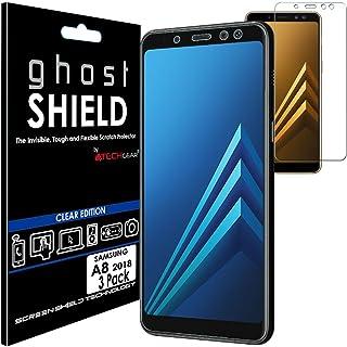 TECHGEAR [3-pack] skärmskydd som passar Samsung Galaxy A8 2018 (SM-A530-serien) [ghostSHIELD Edition] Äkta förstärkt flexi...