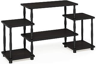Furinno Supports de téléviseur sans outils, bois, expresso/noir, taille unique, one size
