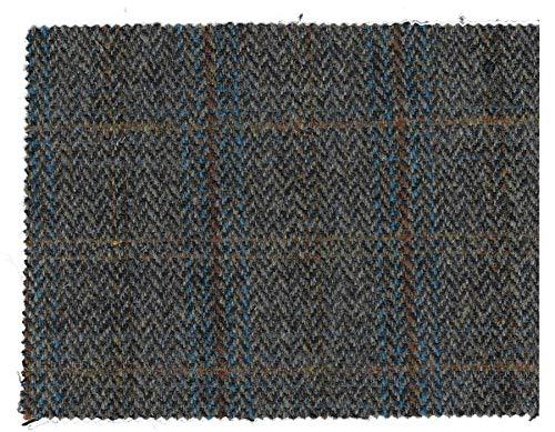 Walker and Hawkes - Harris-Tweed-Stoff - 100% echte Schurwolle - Clinton-Braun - 1m (100 x 150cm)