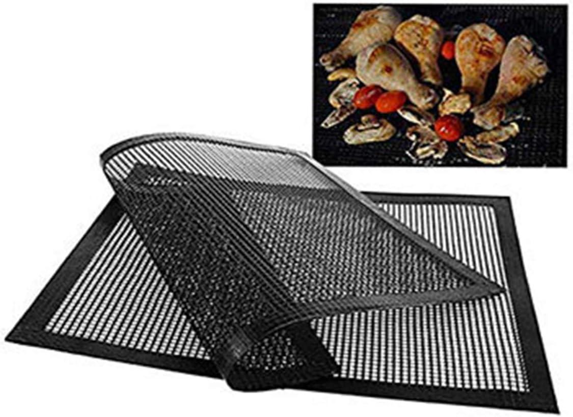 Gojiny Tapis de Maille de Gril Tapis de Maille de Barbecue Antiadhésif Résistant à La Chaleur 3Pcs Réutilisable Et Facile à Nettoyer 15,7 x 11,8 pouces