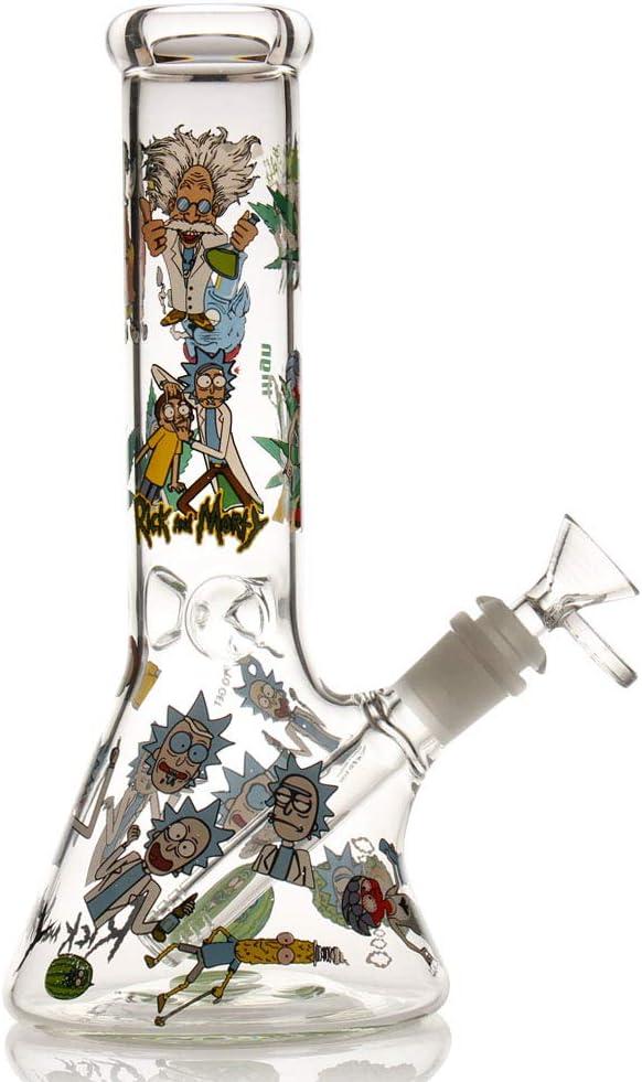 M-pungar Bong de cristal con percolado de tornado, Bongs de agua con cuenco de 14,5 mm para fumar cachimba (azul-1) (vidrio bong1)