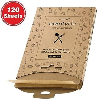 120 x Parchment Paper Sheets - No Curl, No Tear, No Burn Baking Paper (16 x 12 inch) – Precut Parchment Paper For Baking – No Chemical Unbleached Parchment Paper – Cookie Paper Baking Sheets
