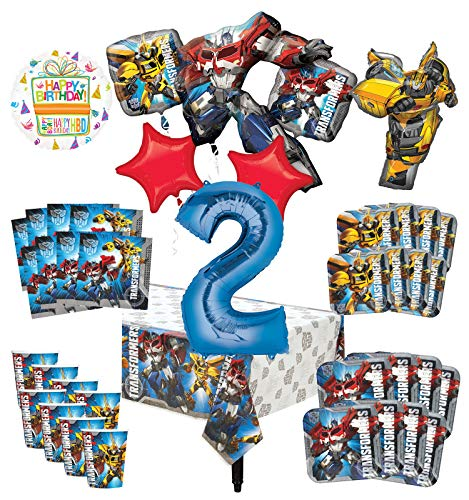 Learn More About Transformers 2nd Birthday Party Supplies 8 Guest Decoration Kit and Balloon Bouquet