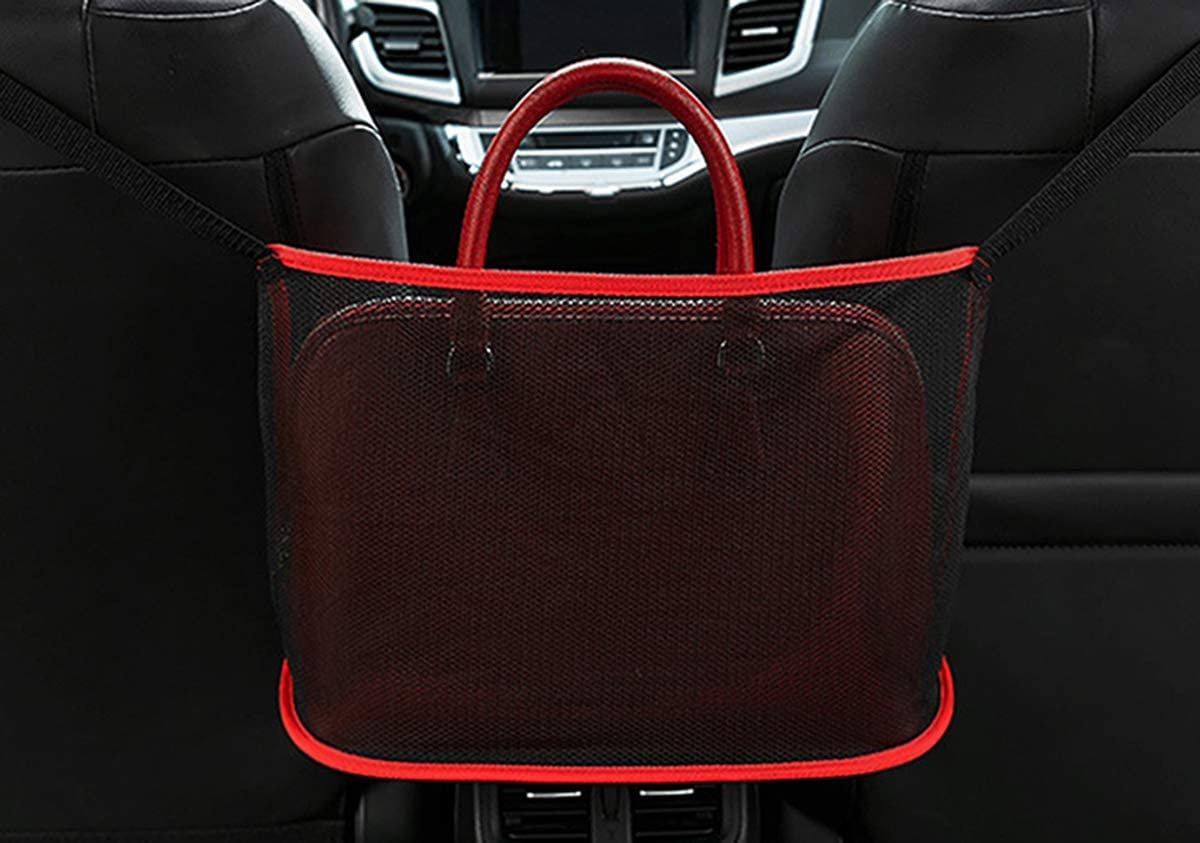 Seat Back Net Bag Driver Storage Netting Pouch Barrier of Backseat Pet Kids AUPER Car Net Pocket Handbag Holder Handbag Holder for Car