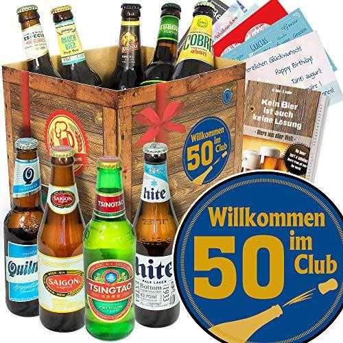 Wilkommen im Club 50 / Geburtstag 50 Partner/Biere aus aller Welt