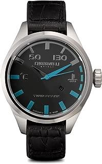 Men's Pilot Automotive Watch Alfa Romeo Gauge Italian Leather 54.100