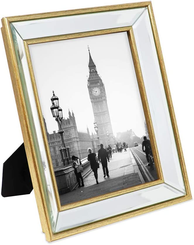 Isaac Same day shipping Jacobs 8x10 Gold Beveled Mirror Mi Classic Max 59% OFF Picture - Frame