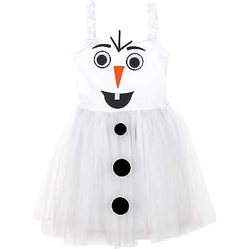 WIDMANN Srl disfraz de Muñeco de nieve elástico de niña, Color ...