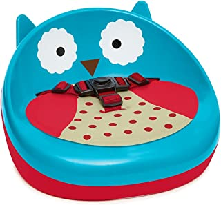 skip hop zoo owl booster seat, blue