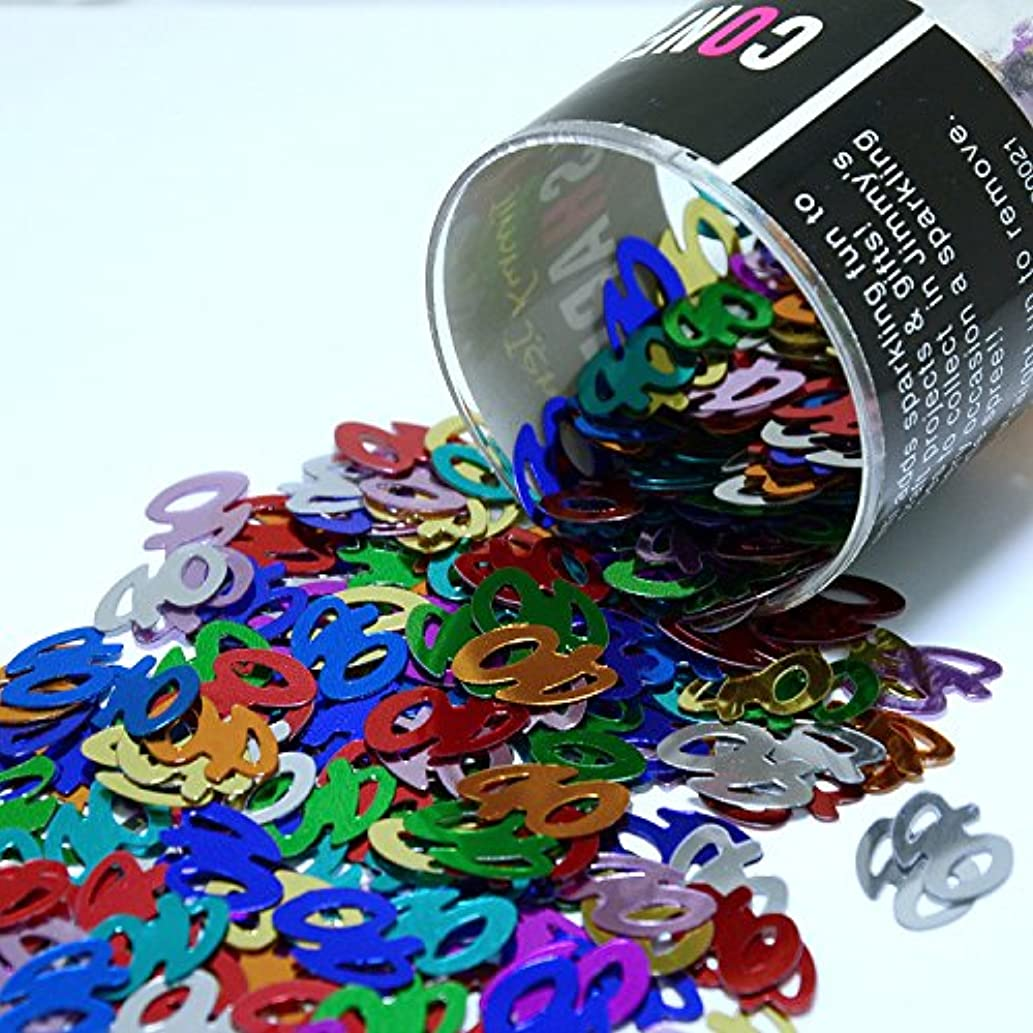 Confetti Number 40 Multicolors - Retail Pack #7406 - Free Ship