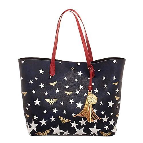 240f821e8d DC Comics Wonder Woman Logo Stars Oversized Tote Bag Purse