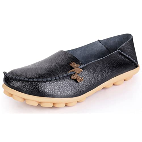 c235b838716c9 Labatostyle Women'S Casual Leather Loafers Driving Moccasins Flats Shoes