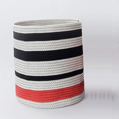 SMBYLL Panier de vêteHommests en Coton, Poubelle de RangeHommest pour collation, Jouet Seau, adapté à Un Usage Domestique, Deux Tailles, Boîte de RangeHommest (Taille   35  40cm)