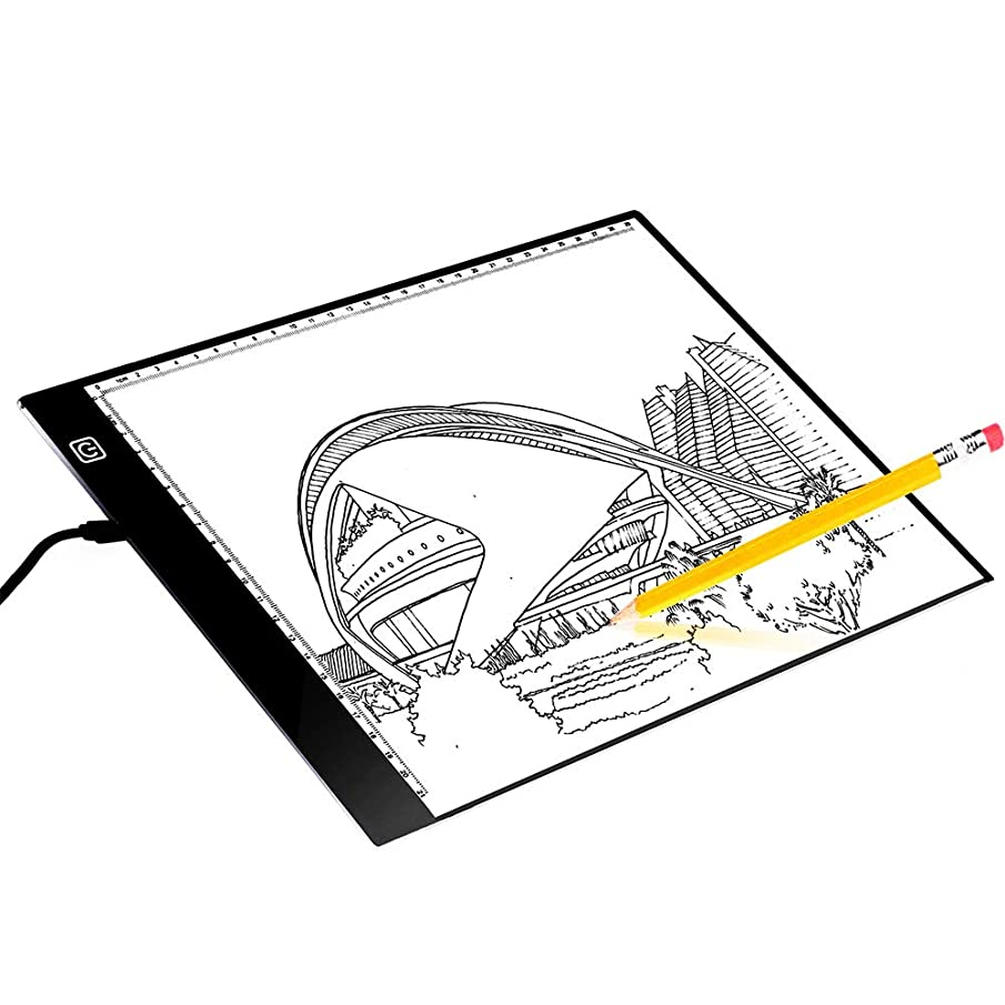 Orangehome A4 Tracing Light Box Portable Ultra Thin LED Light Pad Dimmable Brightness Light Table for Drawing Sketching Designing X-Ray Viewing