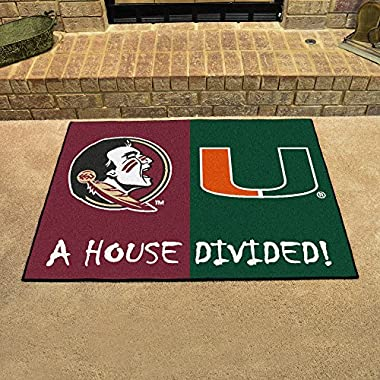 House Divided: Florida State-Miami Rug