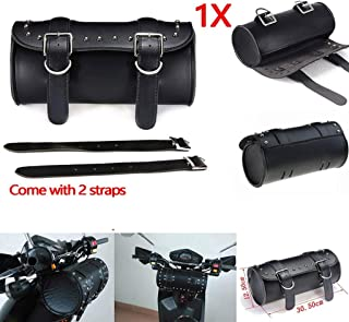 Fashion 5.12X5.12X12.20 Inch Motorcycle Pu Leather Saddlebag Saddle Tool Pouch Side Bag For Harley Storage Pouch