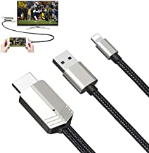 Compatible with iPhone to HDMI Cable - 1080P HD Phone to TV Cable Digital AV Adapter for iPhone iPad Connect to TV Project...