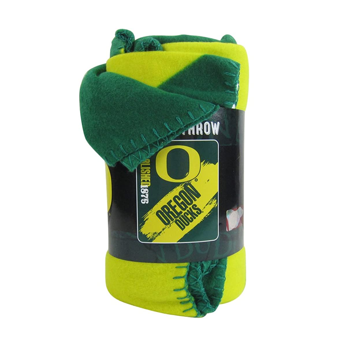 The Northwest Company Officially Licensed NCAA Painted Fleece Throw Blanket - Oregon Ducks
