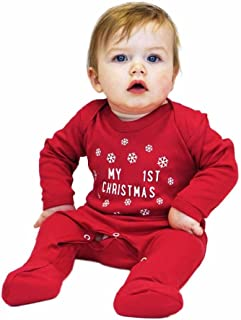 Sunbona Christmas Toddler Baby Boys Girls Letter Long Sleeve Romper Jumpsuit Cotton Warm Pajamas Outfits Clothes
