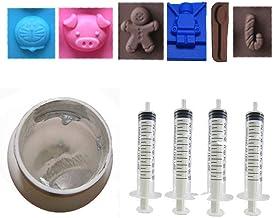 200 Grams Gallium Liquid Metal, 99.999% Pure Melting Gallium Four Syringes, Six Silicone Mold Cubes, and Complete DIY Science Experiment Guide