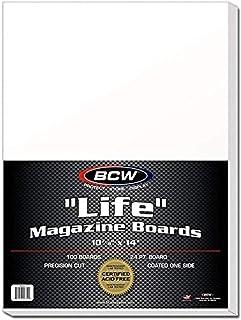 لوحات دعم مجلة BCW BBMAG-L حجم الحياة لوحات بيضاء 100 لوحات