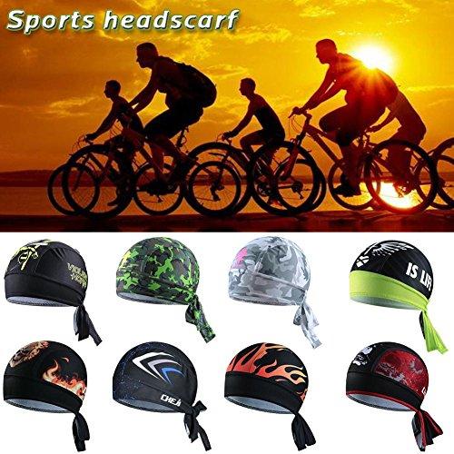 iBaste Outdoor Sport Fahrrad atmungsaktiv Hat Quick-Dry Bike Radfahren Kopftuch Pirat Schal Stirnband - 2