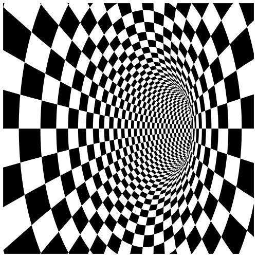 3D Stereo Vision Carpet,Indoor Outdoor Black White Deep Hole Geome Illusion Floor Mat 16'' * 24''Non Slip Wear Resistant Suitable Bedroom Living Room Bathroom Kitchen Welcome Door 8-80 * 160cm