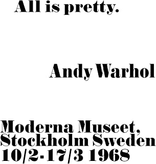All is Pretty Poster Andy Warhol Poster All is Pretty Print Andy Warhol Wall Art All Andy Warhol Decor (16 x 20)
