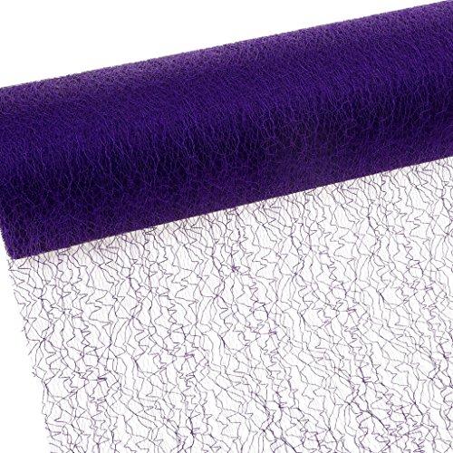 Deko und Band Spiderweb – mesch – Chemin de Table – Chemin de Table – 30 cm – Rouleau 25 m – 67 028 Violet pour r 300