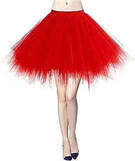 MizHome Womens Soild Color Tutu Skirt Layered Tulle Skirt Adult Halloween Costumes