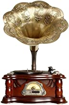$1250 » CHUXJ Bluetooth Speaker, Vintage Gramophone Shaped Vintage Retro Style Subwoofer Speaker, Phonograph Style for Home Decora...