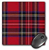 3dRose LLC 8 x 8 x 0.25 Inches Mouse Pad, Red N Blue Plaid (mp_56169_1)