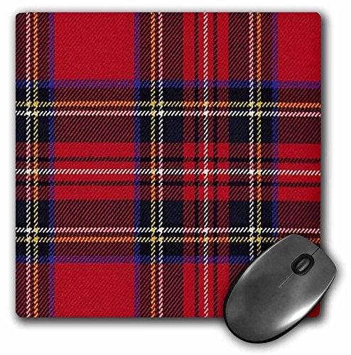 3dRose LLC 8 x 8 x 0.25 Inches Mouse Pad, Red N Blue Plaid (mp_56169_1)