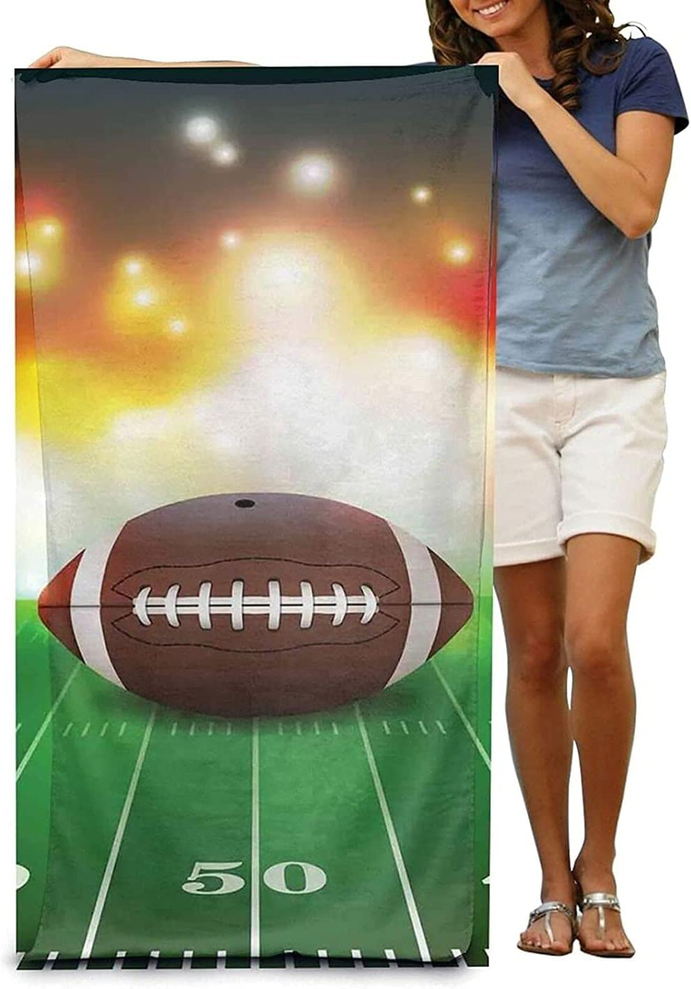 American Football New Orleans Mall Ball On Grass Sports Beach wholesale size32 Towels Print